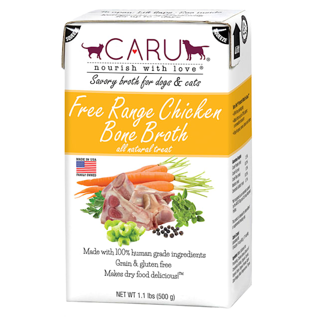 CARU Free Range Chicken Bone Broth Natural Liquid Treat for Dogs and Cats, 1.1 lbs. - Carousel image #1