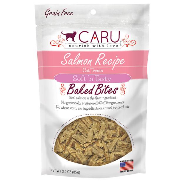 CARU Salmon Recipe Baked Bites Semi-moist Cat Treat, 3 oz. - Carousel image #1