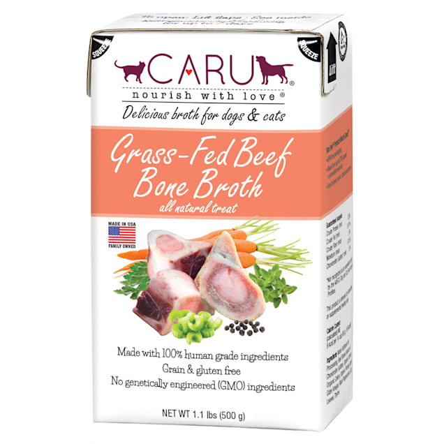 CARU Grass-Fed Beef Bone Broth Natural Liquid Treat for Dogs and Cats, 1.1 lbs. - Carousel image #1