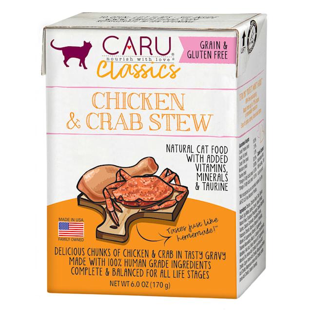 CARU Chicken & Crab Stew Wet Cat Food, 6 oz. - Carousel image #1