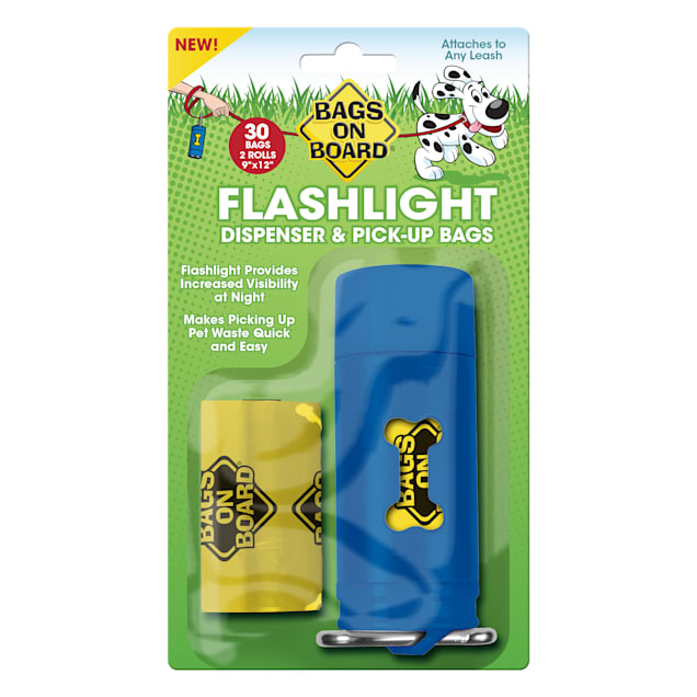 Bags on Board Flashlight Dispenser & Pickup Bags Refill for Dogs, 30 Bags - Carousel image #1