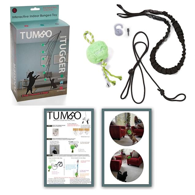 Tumbo Indoor Tiny Tugger Hanging Bungee Powered Plush Dog Toy, Small - Carousel image #1