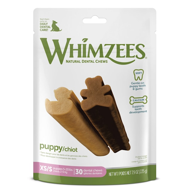 Whimzees Natural Grain Free Dental X-Small/Small Puppy Treats, 7.9 oz., Pack of 30 - Carousel image #1