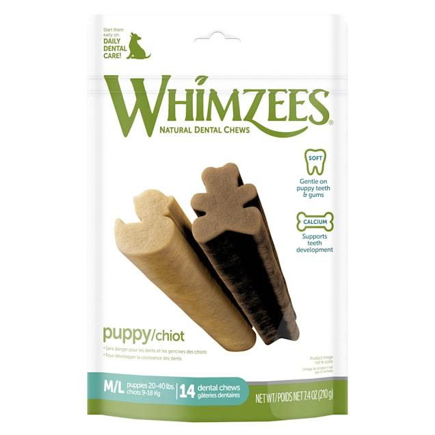 Whimzees Natural Grain Free Dental Medium/Large Puppy Treats, 7.4 oz., Pack of 14 - Carousel image #1