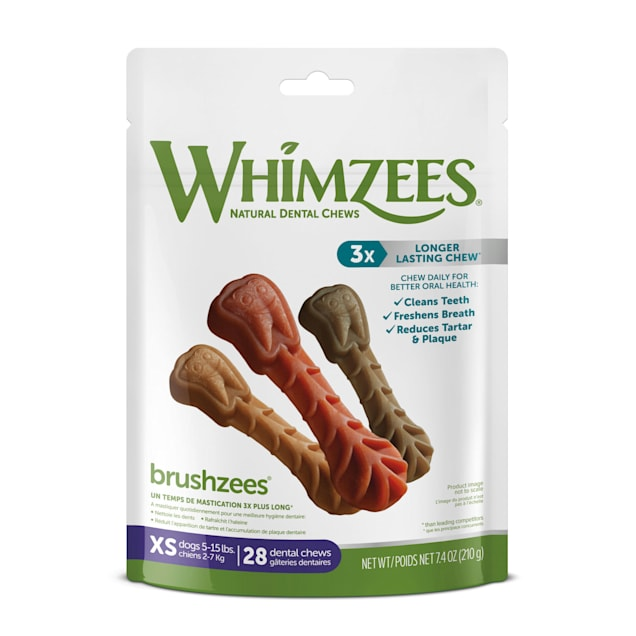 Whimzees Natural Grain Free Daily Dental X-Small Dog Treats, 7.4 oz., Pack of 28 - Carousel image #1
