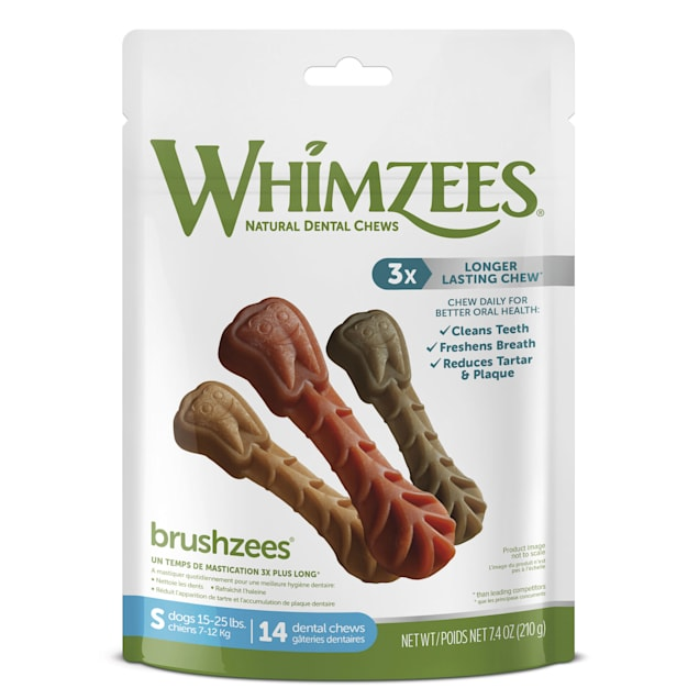 Whimzees Natural Grain Free Daily Dental Small Dog Treats, 7.4 oz., Pack of 14 - Carousel image #1