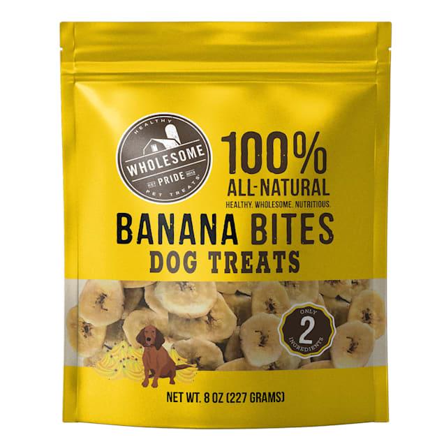Wholesome Pride Banana Bites Dog Treats, 8 oz. - Carousel image #1