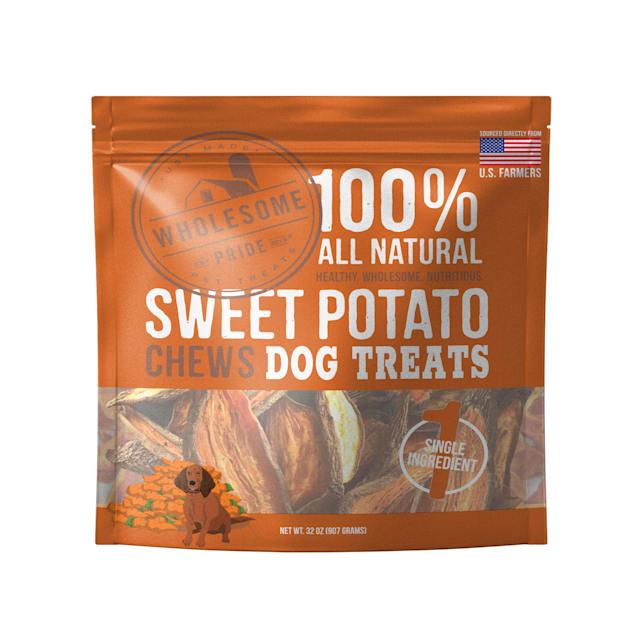 Wholesome Pride Sweet Potato Chew Dog Treats, 32 oz. - Carousel image #1