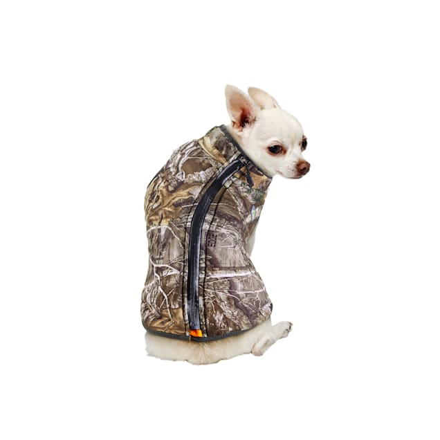 Track & Tail Reversible Padded Poly Coat With Fleece Lining for Dogs, Large - Carousel image #1