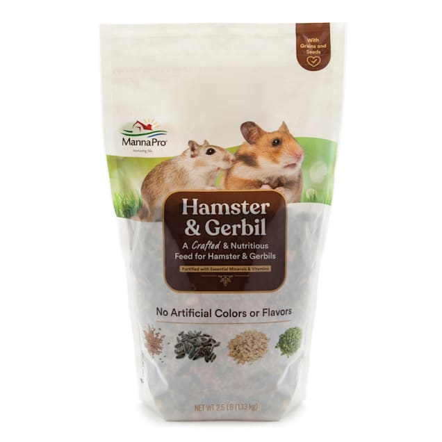 Manna Pro Hamster & Gerbil Dry Food, 2.5 lbs. - Carousel image #1