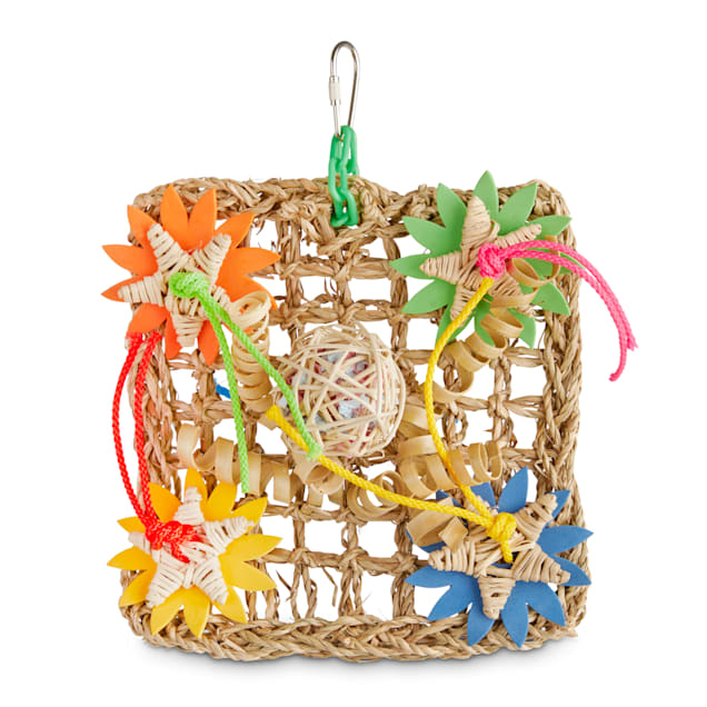 You & Me Wall Vine Mat Foraging Bird Toy, Small - Carousel image #1