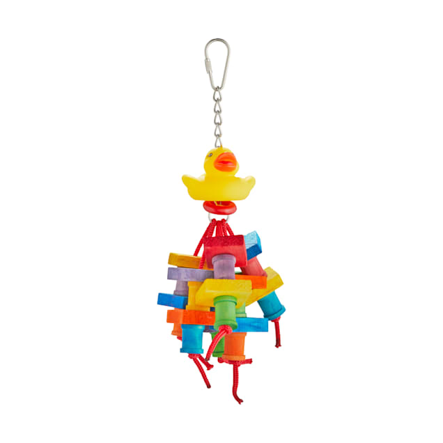 You & Me Quacktastic Chewing Bird Toy, Small - Carousel image #1