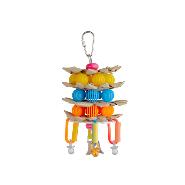 You & Me Stars of Palm Chewing Bird Toy, Medium - Carousel image #1