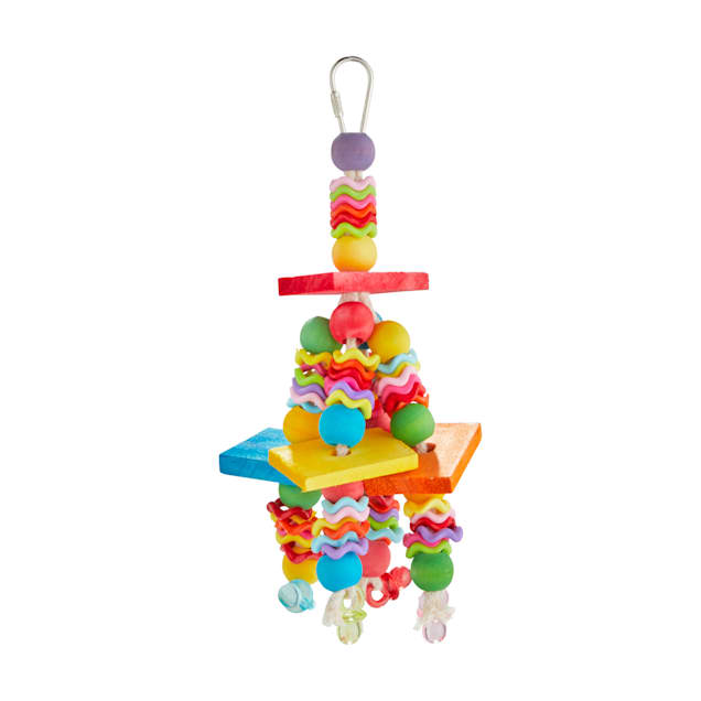 You & Me Fiesta On The Blocks Chewing Bird Toy, Small - Carousel image #1