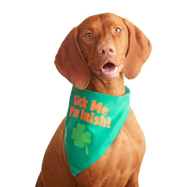 Bond & Co. Saint Patrick's Day Double-Sided Dog Bandana, Small/Medium - Carousel image #1