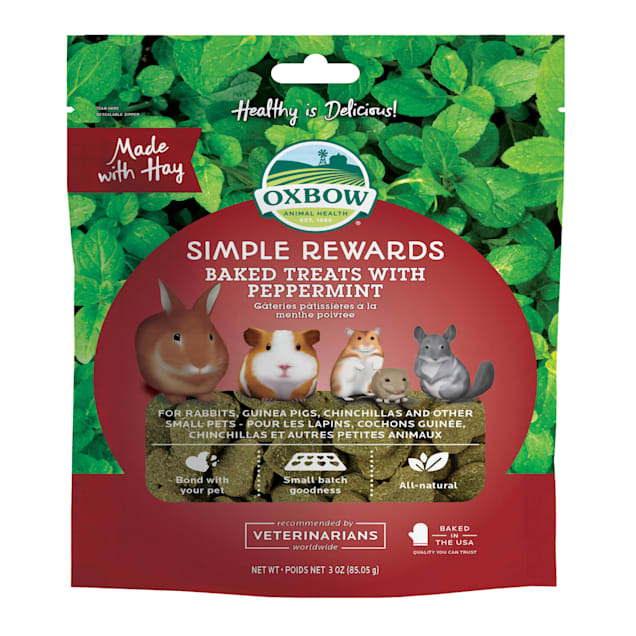 Oxbow Simple Rewards Baked with Peppermint Small Animal Treats, 3 oz. - Carousel image #1
