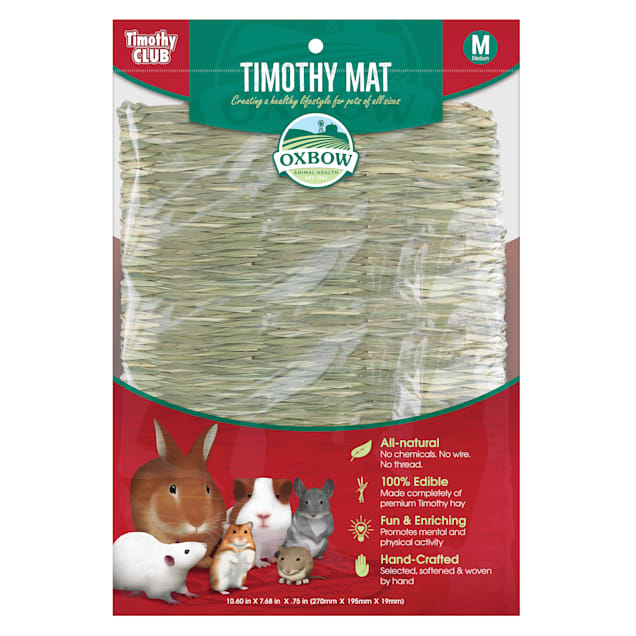 Oxbow Timothy Club Timothy Hay Mat for Small Animals, Medium - Carousel image #1