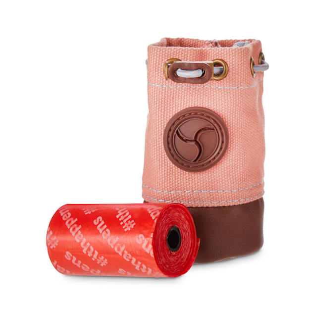 Reddy Coral Canvas & Leather Waste Bag Dispenser for Dogs - Carousel image #1