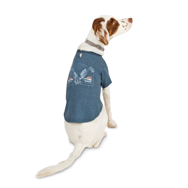 Reddy Blue Vintage Eagle Graphic Dog T-Shirt, X-Small - Carousel image #1