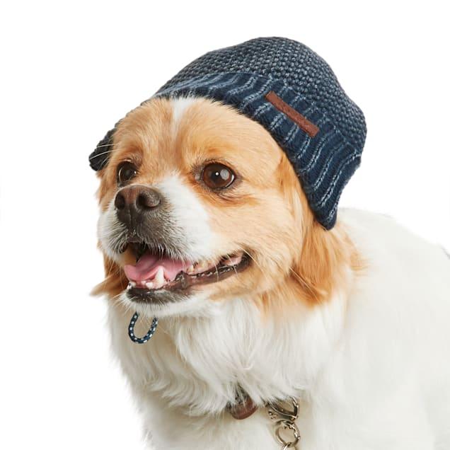 Reddy Indigo Knit Dog Beanie, X-Small/Small - Carousel image #1