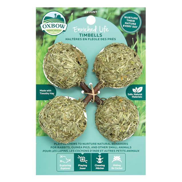 Oxbow Enriched Life Timbells Chew for Rabbits, Count of 2 - Carousel image #1
