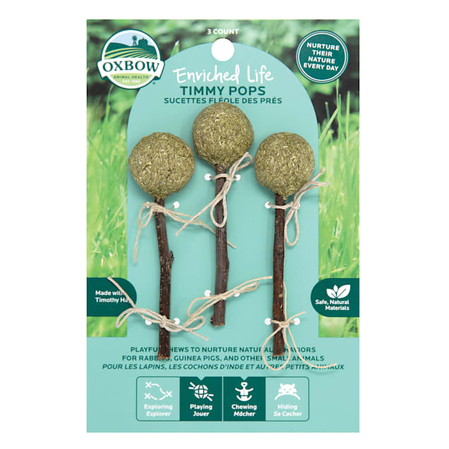 Oxbow Enriched Life Timmy Pops Chew for Rabbits, Count of 3 - Carousel image #1