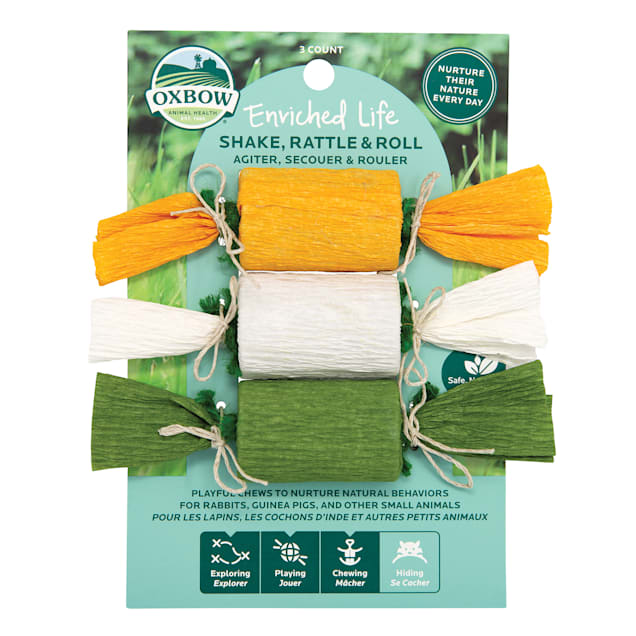 Oxbow Enriched Life Shake, Rattle & Roll Chew for Rabbits, Count of 3 - Carousel image #1