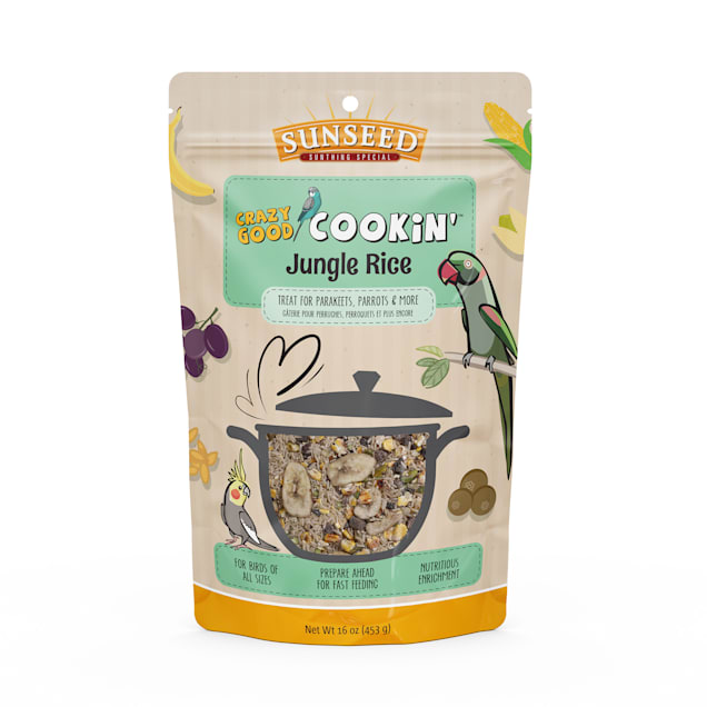 Sun Seed Crazy Good Cookin' Jungle Rice Treat for Birds, 16 oz. - Carousel image #1