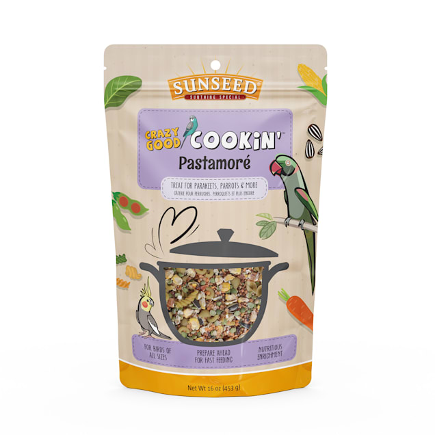 Sun Seed Crazy Good Cookin' Pastamore Treat for Birds, 16 oz. - Carousel image #1