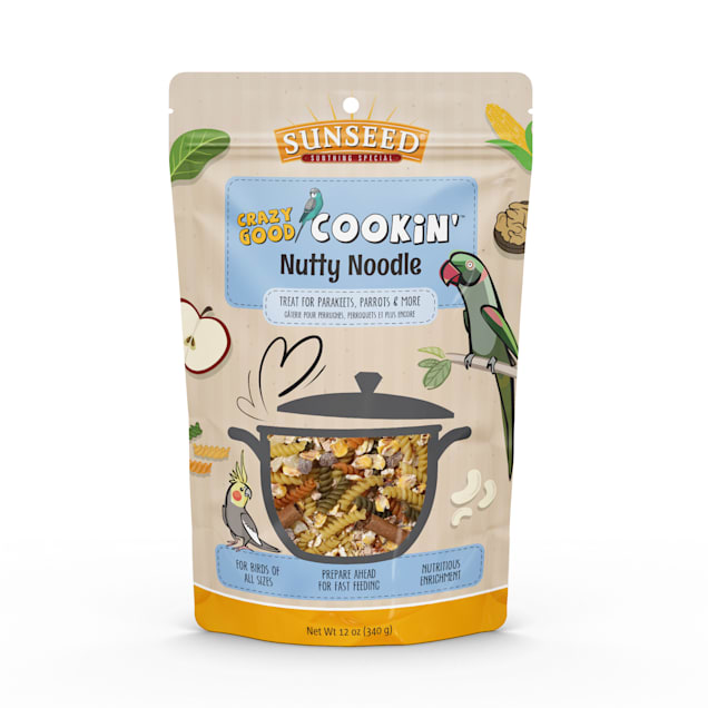 Sun Seed Crazy Good Cookin' Nutty Noodle Treat for Birds, 12 oz. - Carousel image #1