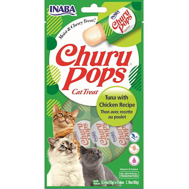 Inaba Churu Pops Tuna with Chicken Receipe Cat Treats, 2.16 oz., Count of 24 - Carousel image #1