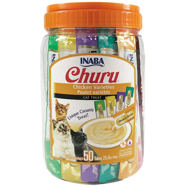 Inaba Churu Chicken Variety Pack Cat Treats, 25 oz., Count of 50 - Carousel image #1