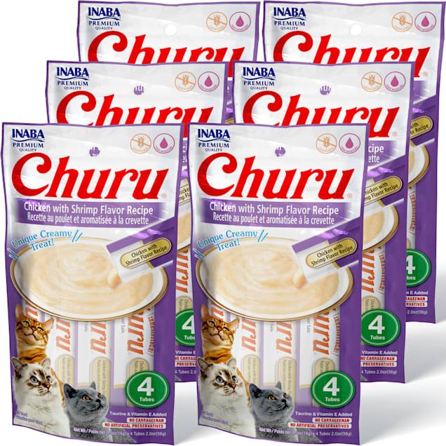 Inaba Churu Chicken with Shrimp Flavor Recipe Cat Treats, 2 oz., Count of 4 x .5 oz. - Carousel image #1