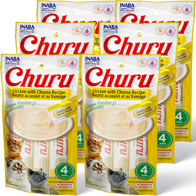Inaba Churu Chicken with Cheese Recipe Cat Treats, 2 oz., Count of 24 - Carousel image #1