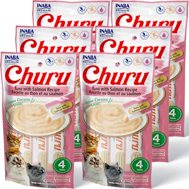 Inaba Churu Tuna with Salmon Recipe Cat Treats, 2 oz., Count of 4 x .5 oz. - Carousel image #1
