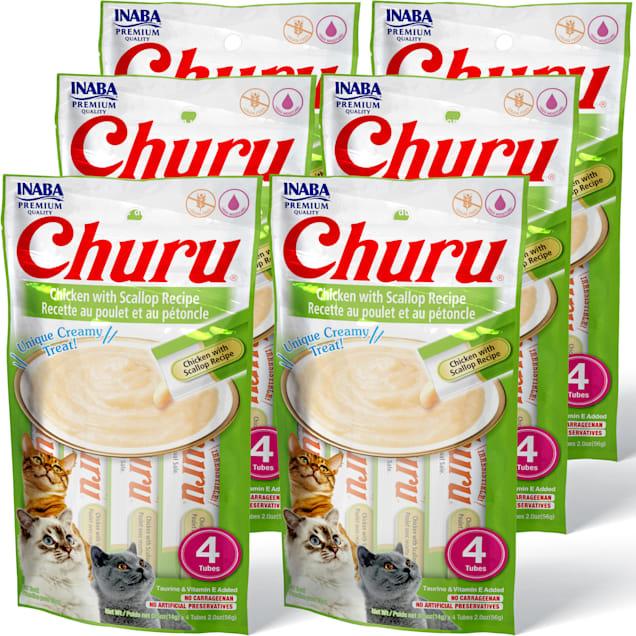 Inaba Churu Chicken with Scallop Recipe Cat Treats, 2 oz., Count of 4 x .5 oz. - Carousel image #1
