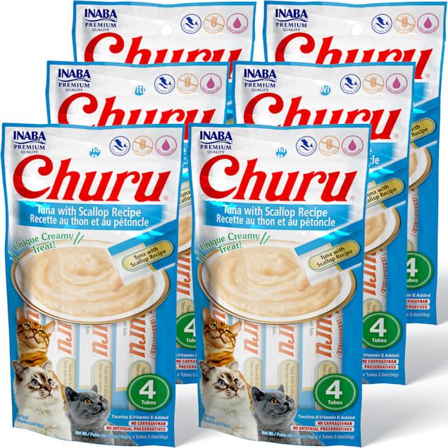 Inaba Churu Tuna with Scallop Recipe Cat Treats, 2 oz., Count of 4 x.5 oz. - Carousel image #1