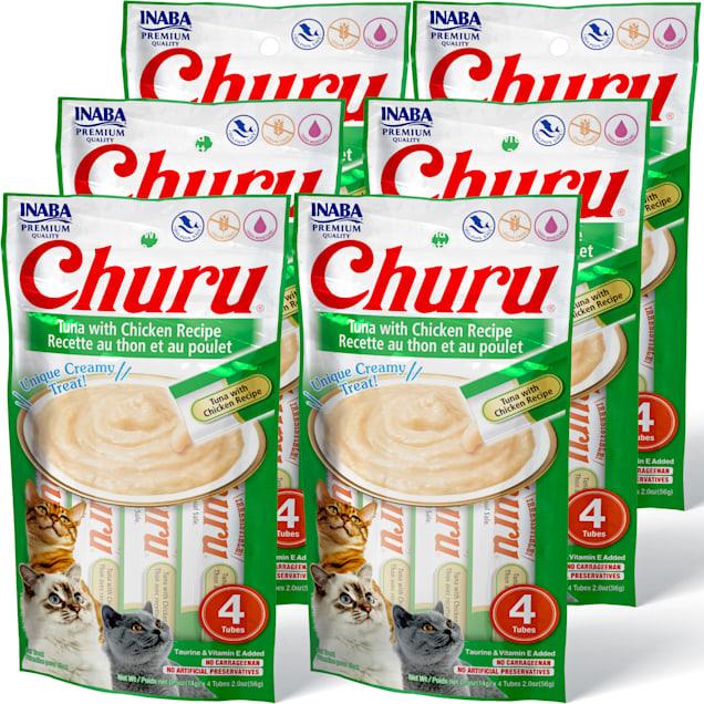 Inaba Churu Tuna with Chicken Recipe Cat Treats, 2 oz., Count of 4 x .5 oz. - Carousel image #1