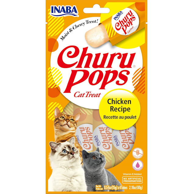 Inaba Churu Pops Chicken Receipe Cat Treats, 2.16 oz., Count of 24 - Carousel image #1
