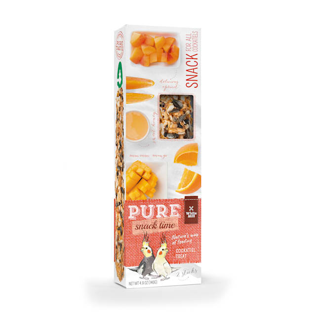 White Mill Treat Stick Apricot Orange & Mango Flavor for Cockatiel, 0.31 lbs. - Carousel image #1