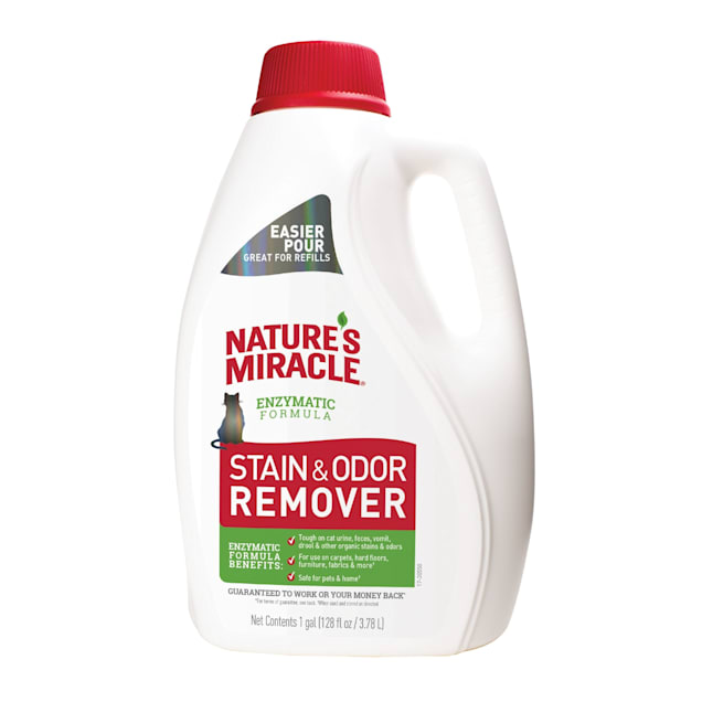 Nature's Miracle Stain & Odor Remover for Cats, 128 fl oz, Citrus Scent - Carousel image #1