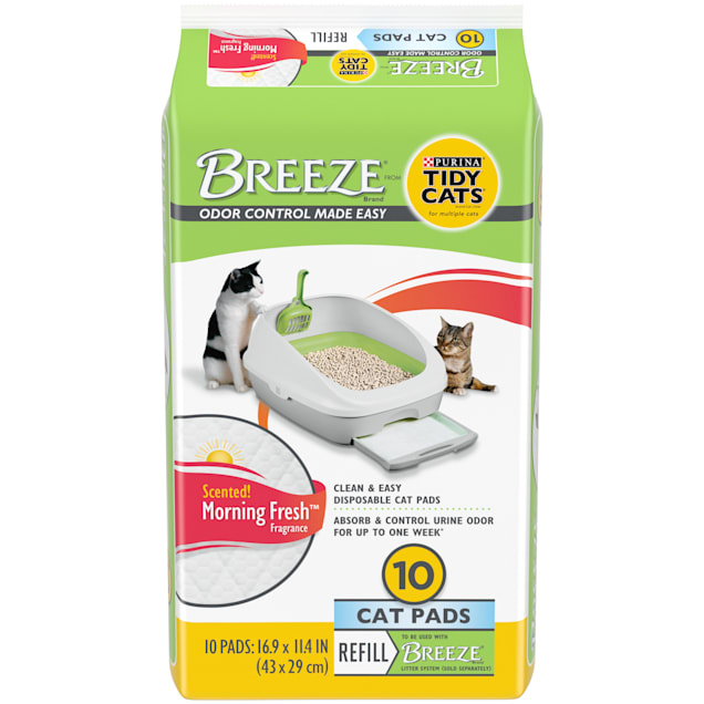 Tidy Cats Breeze Litter System Cat Pad Refills, Count of 10 - Carousel image #1