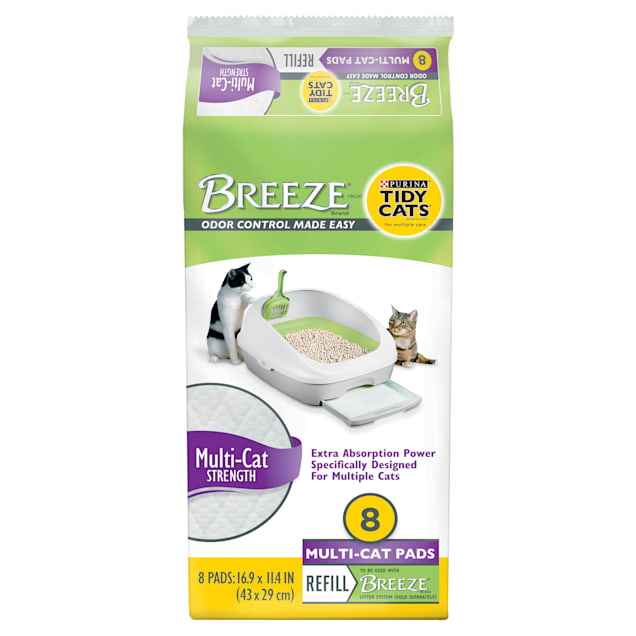 Purina Tidy Cats Breeze Multi-Cat Pads Refill Pack, Count of 8 - Carousel image #1