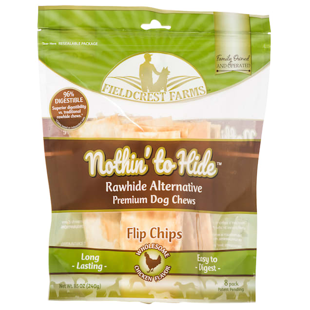 Fieldcrest Farms Nothin' to Hide Chicken Chips Dog Chew, 240 Gram, Count of 8 - Carousel image #1