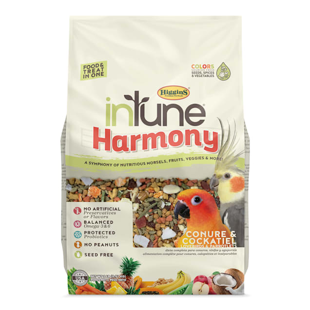 Higgins inTune Harmony Fruit Extruded Conure & Cockatiel Bird Food, 2 lbs. - Carousel image #1
