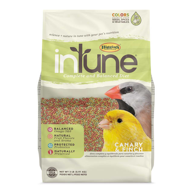 Higgins inTune Complete and Balanced Diet Fruit Extruded Canary & Finch Bird Food, 2 lbs. - Carousel image #1