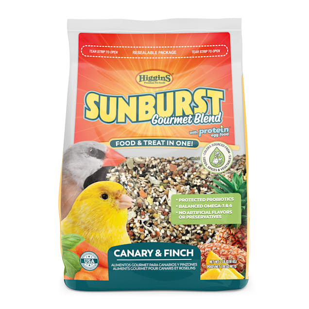 Higgins Sunburst Gourmet Blend Seed Canary & Finch Bird Food, 2 lbs. - Carousel image #1