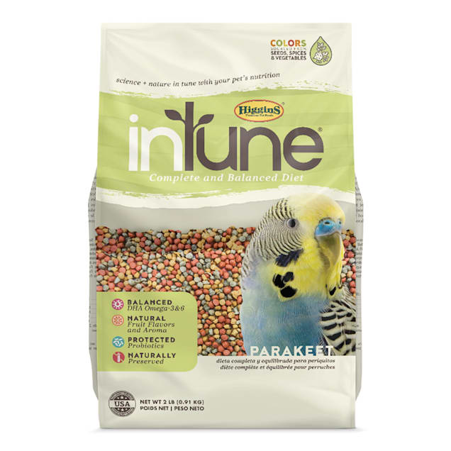 Higgins inTune Complete and Balanced Diet Fruit Extruded Parakeet Bird Food, 2 lbs. - Carousel image #1