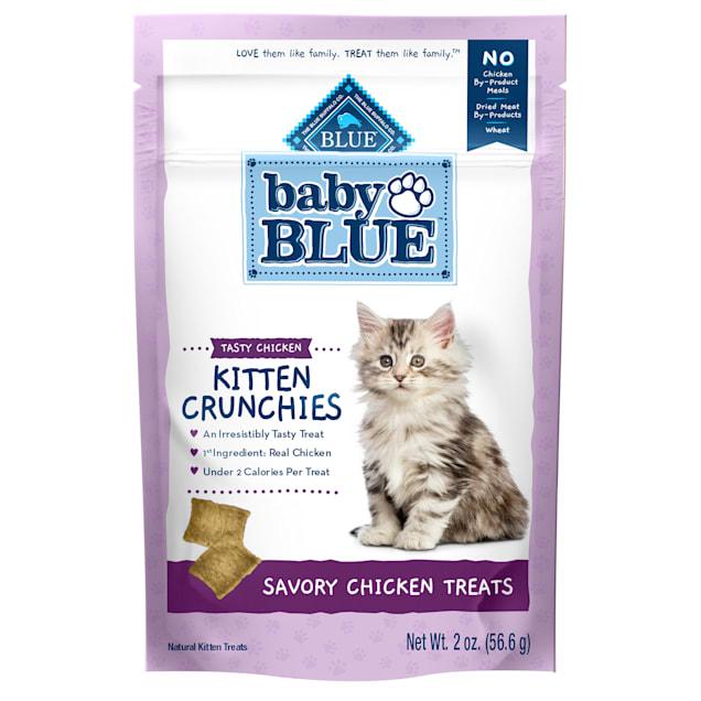 Blue Buffalo Baby Blue Crunchies Natural Savory Chicken Kitten Treats, 2 oz. - Carousel image #1