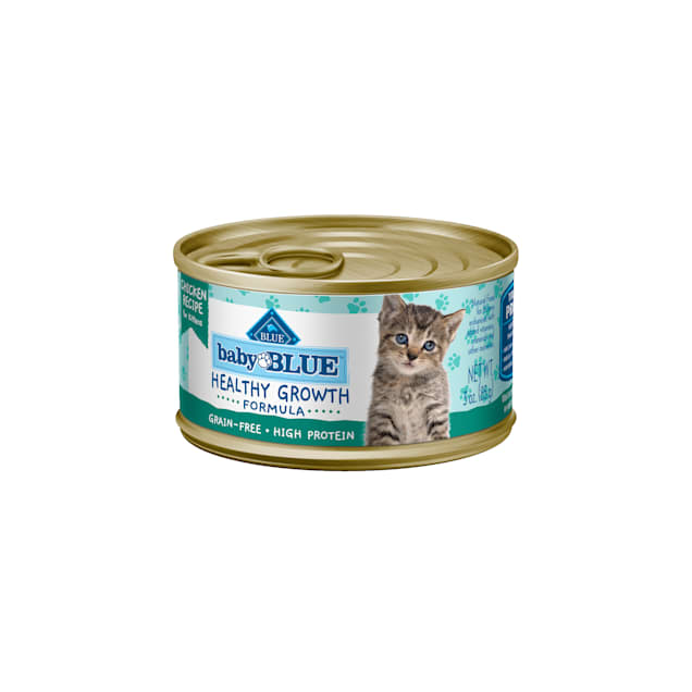 Blue Buffalo Baby Blue Healthy Growth Formula Natural Grain Free Chicken Recipe Kitten Pate Wet Food, 3 oz., Case of 24 - Carousel image #1